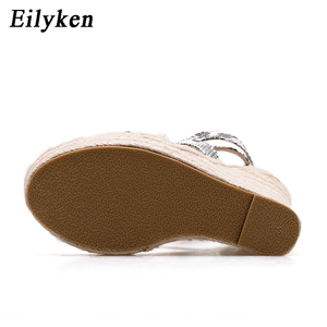 Image 3 - Eilyken sandálias plataforma, serpentina, sapatos de salto alto aberto, casual, com fivela, plus size 35 42