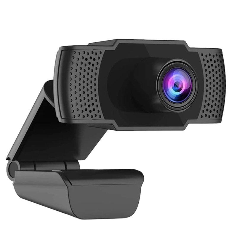 C40 Webcam With Microphone, 1080P HD Webcam USB Plug And Play Computer Camera For Laptop Desktop Video Calling