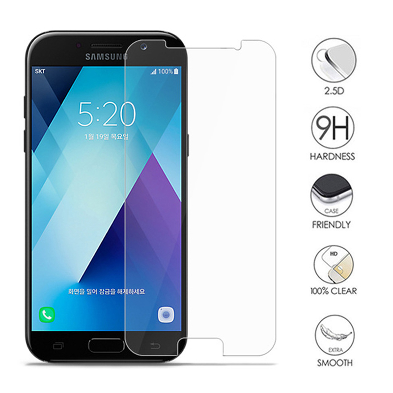 9H Hardness Protection Glass On For Samsung Galaxy A3 A5 A7 J3 J5 J7 2015 2016 2017 2018 Version Tempered Screen Protector Film