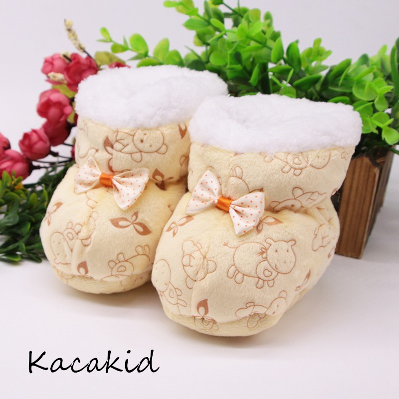 Newborn First Walkers Toddler Infant Shoes Cotton Snow Booties Soft Sole Crib Shoes  Winter Warm Anti-slip Baby Shoes 0-1Y