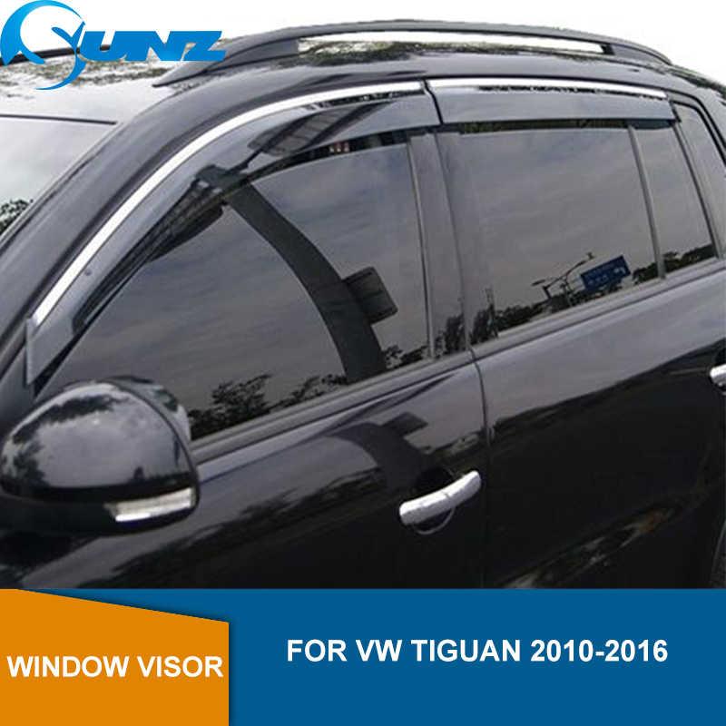 CHROME WEATHER SHIELD WEATHERSHIELDS WINDOW VISOR VW TIGUAN 2008-2014 WAGON