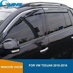 Deflectores de ventana lateral para VW TIGUAN 2010 2011 2012 2013 2014 2015 2016 visera protectores meteorológicos Deflector de lluvia y sol SUNZ