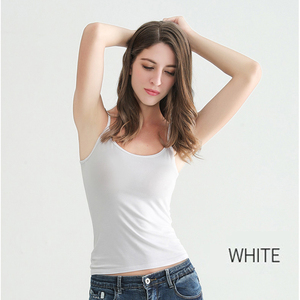 Image 3 - Womens Sexy Tank Tops Female Slim Sleeveless Casual Vest Camisole Solid Color Crop Top for Ladies Fitness Vest Black White Tank