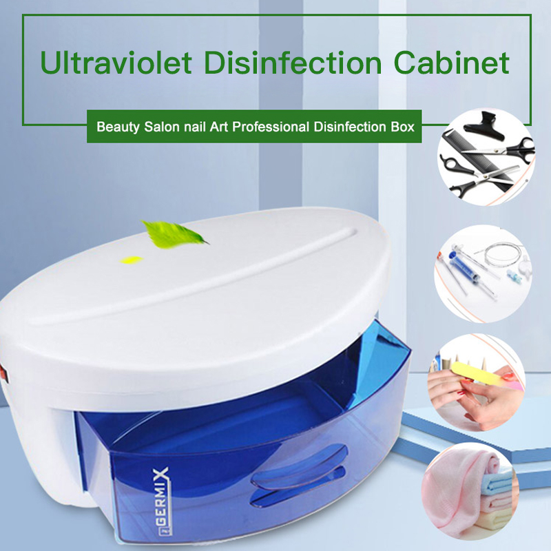 UV Sterilizer Box Disinfection Cabinet Ultraviolet Light Sterilization Nail Art Manicure Tools Beauty Salon Household EU/US Plug