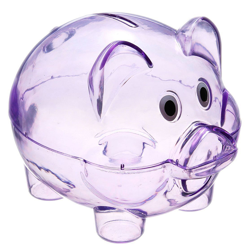 Kid Toy Gifts Lovely Pig Bank Pig Cash Tin Coin Money Saving Storage Box HO