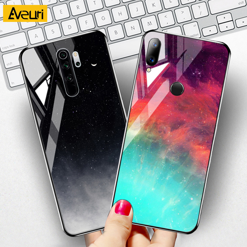 For Redmi Note 9 9s 6 7 8 Pro 8T 4 4X 7A 8A S2 K20 9H Glass Phone Case For Xiaomi mi 8 9 Lite SE Note 10 Lite 9T Pro Cover Case(China)