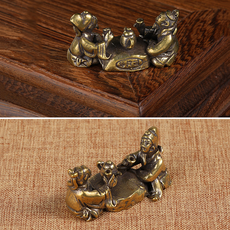 copper figurines  (12)