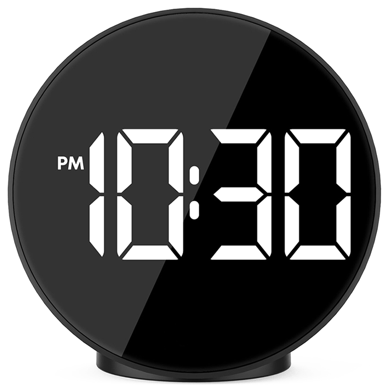 Digital Alarm Clock Led Voice Control Night Mode Electronic Watch Large Time Temperature Home Decor Table Clock Wake Up Light