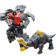 Planet Dinosalies Transformation Dinosaur Warrior Team  Snarl Animation Color Dinobot Figure Toys Changer Alteration