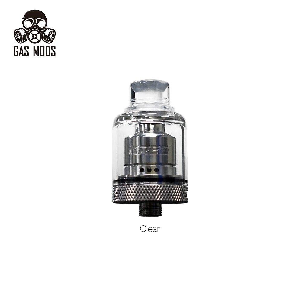 Original GAS MODS Kree RTA 2ml Capacity With Easy Single Coil Building Deck 22mm RTA Atomizer Vape Tank E Cigarette Vs Zeus X