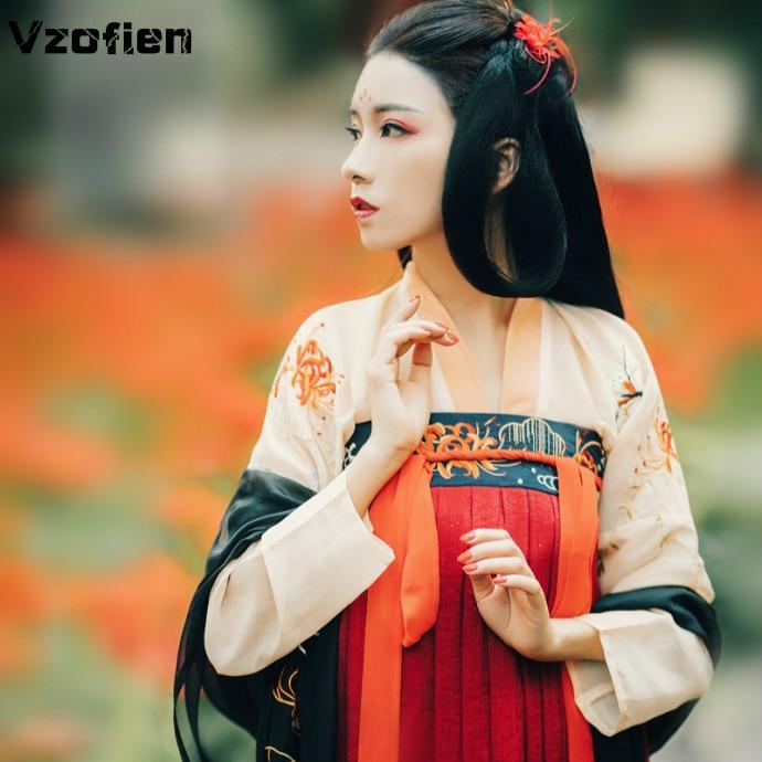 Antik çin kostüm peri Hanfu elbise kadınlar zarif geleneksel çin Tang takım elbise kız asil prenses kostüm halk dans