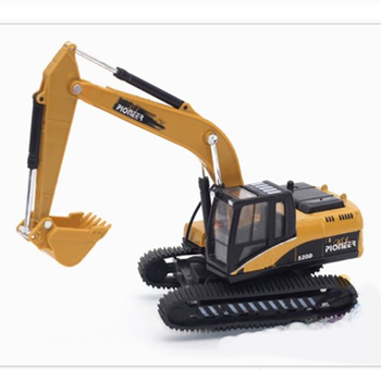 Children's Excavator Toy 1:50 Alloy Light Music Excavator Truck Car Vehicles Model Diecast For Boys Toy Gift caterpillar cat m316d wheel excavator 1 50 model by diecast masters 85171