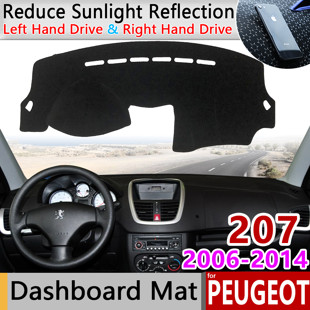 For Peugeot 207 207cc 207sw CC SW RC 2006~2014 Anti-Slip Mat Dashboard Pad Sunshade Dashmat Protect Carpet Accessories 2010 2013
