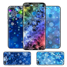 Black Soft Silicone Case Cover for Huawei honor 8X 8C 8A 10 20 Y6 Y9 2019 Lite Play Enjoy 9S 9E 20i 9X Pro Fall Christmas Snowfl(China)