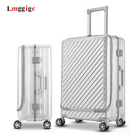 NEW rolling Luggage travel Trolley Aluminum frame Suitcase wheel чемодан with laptop bag , 20 inch Cabin Case & 24 inch box
