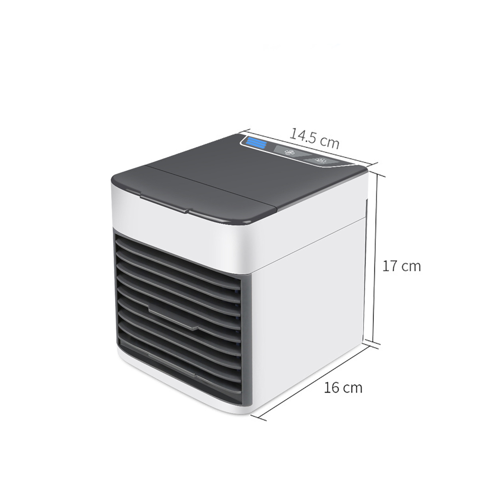 Image 3 - Home Mini Air Conditioner Portable Air Cooler 7 Colors LED USB Personal Space Cooler Fan Air Cooling Fan Rechargeable Fan DeskAir Conditioners   -