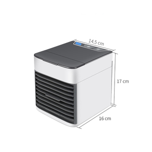 Image 3 - Home Mini Air Conditioner Portable Air Cooler 7 Colors LED USB Personal Space Cooler Fan Air Cooling Fan Rechargeable Fan Desk