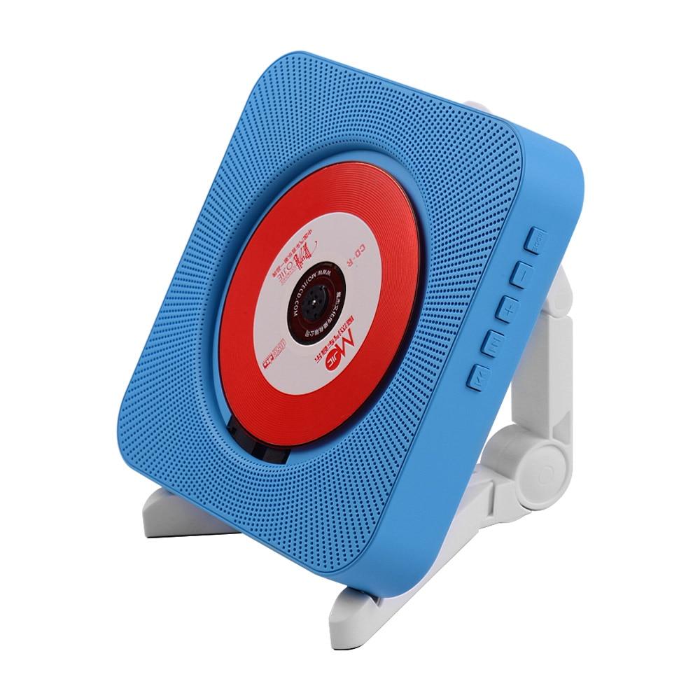 Boombox Audio d'amplificateur de musique de lecteur de CD fixé au mur portatif avec la prise en charge à télécommande des Modes BT/USB/FM prise bleue de JP