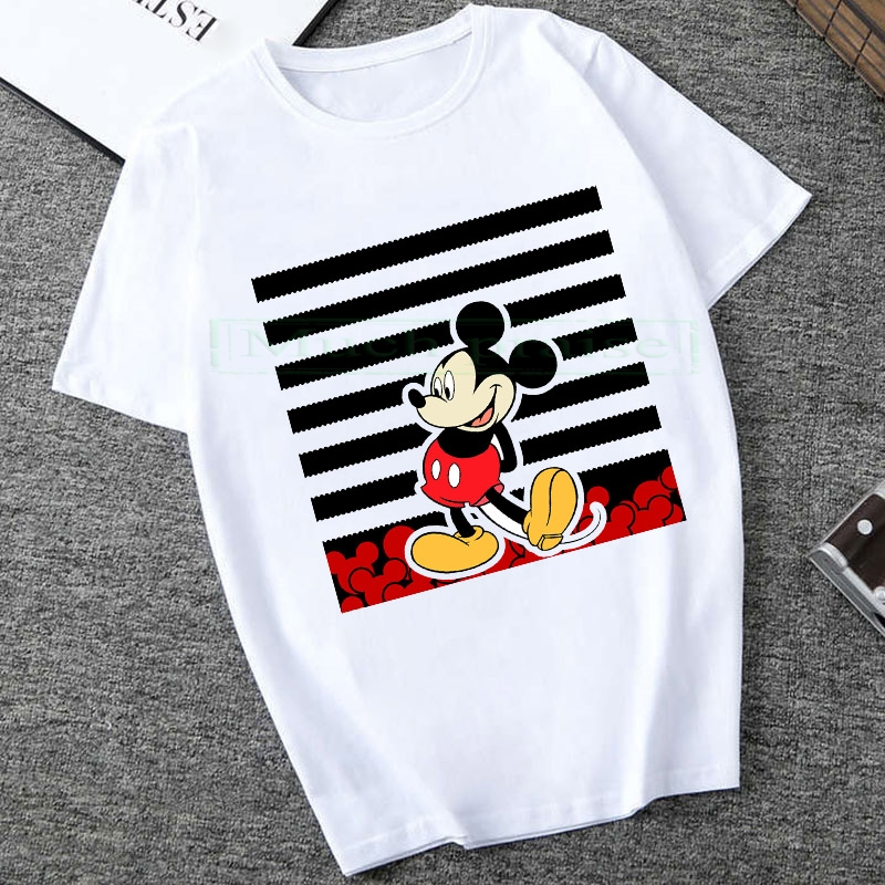 2020 Summer New Mickey Print Tees Mouse T-shirt Men Tops Hip Hop Casual Funny  Cartoon Tshirt Comfort T Shirt