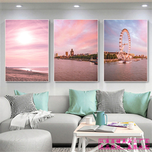Seaside Beach Landscape Canvas Painting Castle Seascape Posters And Prints Wall Art Room Decor Modern Home Decoration Pictures