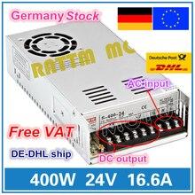 400W 24V מתג DC אספקת חשמל S 400 24 16.6A יחיד פלט עבור CNC נתב קצף מיל Cut לייזר חרט פלזמה