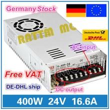 400W 24V التبديل DC امدادات الطاقة S 400 24 16.6A إخراج واحدة ل CNC راوتر الرغوي مطحنة قص الليزر حفارة البلازما