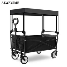 ALWAYSME Folding Outdoor Utility Folding Shopping Cart Folding Shopping Cart Cart