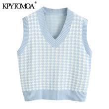 Kpytomoa женский 2020 модный Свободный вязаный жилет с рисунком