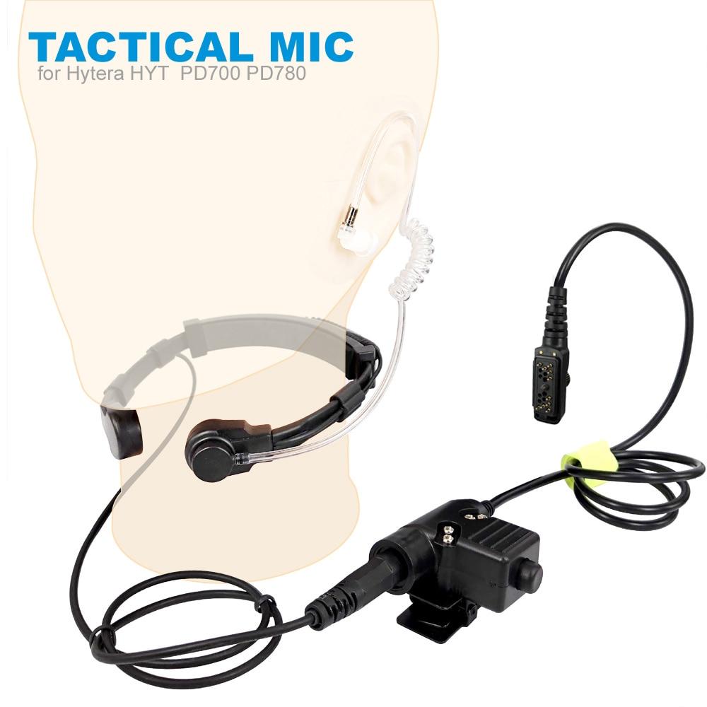 Walkie Talkie Microphone Heavy Duty U94 PTT Neck Throat Mic Earpiece Radio Tactical Headset For Hytera HYT PD702 PD700 PD780