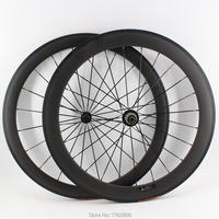 Newest 700C front 50mm+rear 60mm clincher rim Road bike aero matte 3K full carbon bicycle wheelset 20.5 23 25mm width Free ship