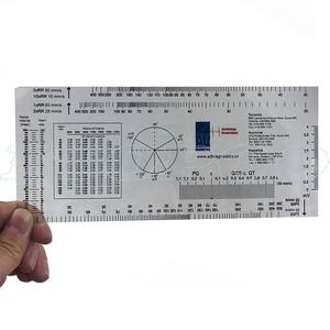 Image 2 - PVC ECG ruler ECG GONIOMETER medical PD ruler Userful Multi Ruler 360 Degree Goniometer Angle Medical Spinal Ruler CM/INCH
