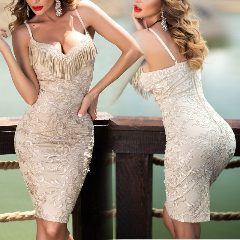 White   Cocktail     Dresses   Short Above Knee Formal Sexy Sheath   Cocktail     Dress   Party With Tassel