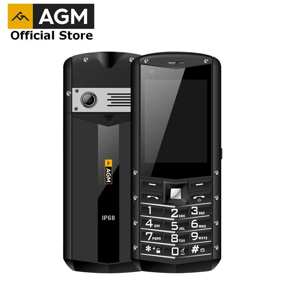 อย่างเป็นทางการ AGM M5 ตัวย่อ Android OS 4G LTE ประเภท C หน้าจอสัมผัส IP68 กันน้ำโทรศัพท์มือถือ 2.8 นิ้ว 2500 mAh โทรศั...