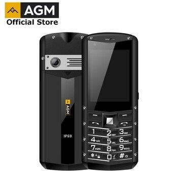 Перейти на Алиэкспресс и купить AGM M5 упрощенный Android OS 4G LTE сенсорный экран, IP68 водонепроницаемый прочный мобильный телефон, 2,8 дюйма, 2500 мАч