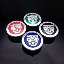 1 High-quality 59mm Wheel Cover Leopard Aluminum Alloy XF XJL XK X-TYPE Tire Logo Center Cover Car Personality Decorative Stick