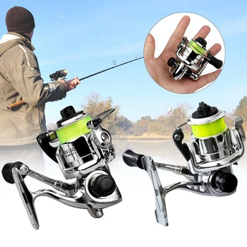 Mini 100 Pocket Spinning Fishing Reel Fishing Tackle Small Spinning Reel 4.3:1 Metal Wheel Pesca Small Reel