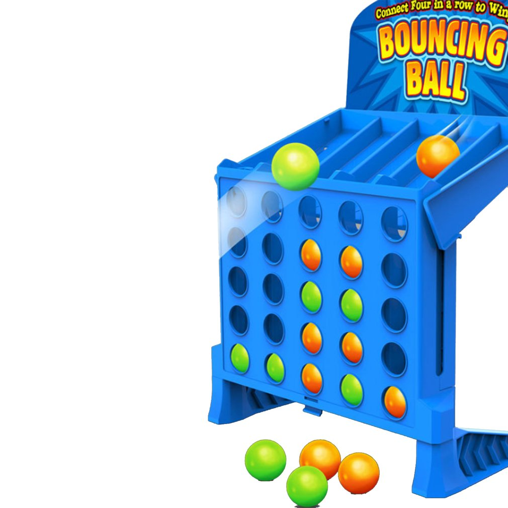 Bouncing Linking Shots Educational Toys Children'S Portable Jump Ball Four-Line Board Game Toy For Children(China)
