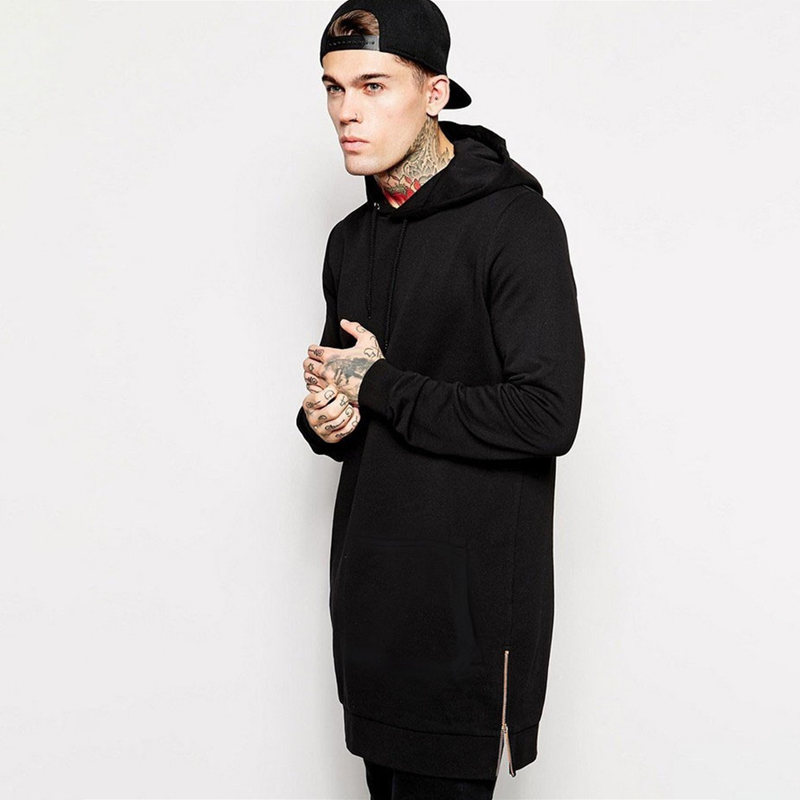Jogger Streetwear Brand Men's Hoodie Hip Hop Casual Long Jacket Autumn And Winter Fashion Cotton Men's Clothing