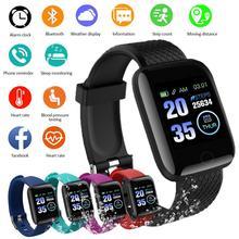 HOT! 116 PLUS Fitness Sport zegarek inteligentny zegarek bransoletka kolorowy ekran monitorowanie ciśnienia krwi tętno ruch IP67 tanie tanio centechia CN (pochodzenie) Android Dla systemu iOS Na nadgarstek Zgodna ze wszystkimi 128MB Rejestrator aktywności fizycznej
