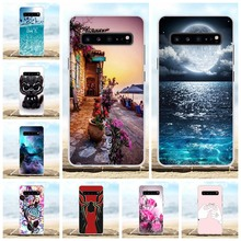 For Samsung Galaxy S10 5G Cover Soft TPU SM-G977B Case Moon Patterned Shell