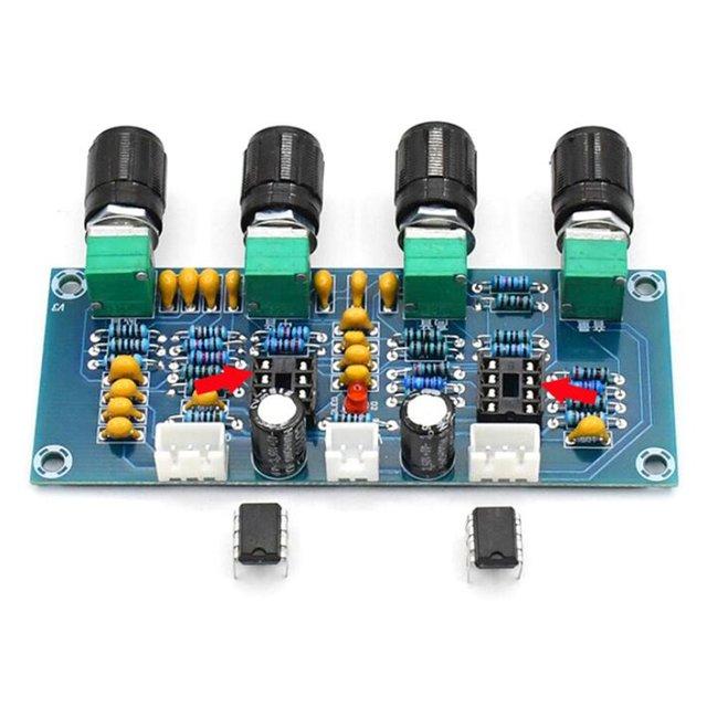 XH-A901 NE5532 Tone Board preamp Pre-amp With treble bass volume adjustment pre-amplifier Tone Controller For amplifier Board 3