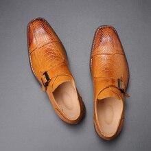 Oxfords chaussures en cuir avec boucle pour homme, chaussures formelles élégantes pour mariage, grande taille, collection 2020
