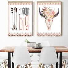 Минималистичная Настенная картина для детской комнаты с оленями