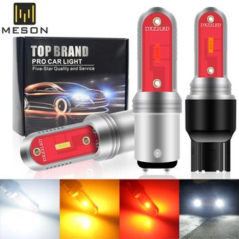 2PC BA15S 1156 P2W T20 LED 7443 1157 BAY15D światła samochodowe LED żarówki 7440 W21W BAU15S sygnał samochodowy lampa włączony kierunkowskaz Super jasne tanie i dobre opinie CN (pochodzenie) Turn Signal BA15S (1156) 12 v Uniwersalny 1156 BA15S 1157 BAY15S T20 7440 7443 2PC LED Bulb Amber White Red