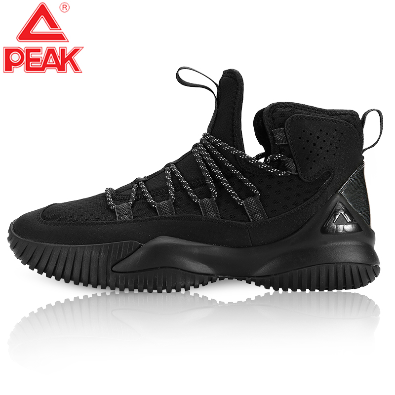 PEAK Basketball-Shoes Gym-Boots Street Sports Light Breathable Anti-Slip Lace-Up Man title=