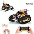 Moc APP RC Verfolgt Stunt Auto Smart Fernbedienung Bausteine Auto Geschwindigkeit Champion Fahrzeug DIY Ziegel Auto Spielzeug Kinder geschenk