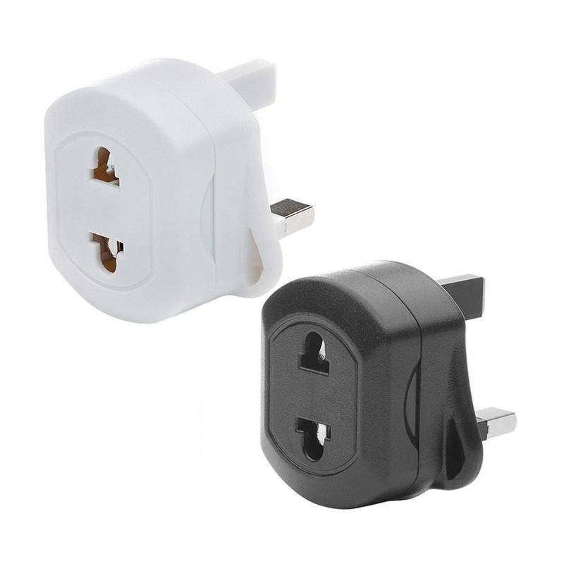 Portable Charger Adapter 250V EU 2 Pin To UK 3 Pin Fused Adaptor Plug Travel Convertor for Shaver Toothbrush image