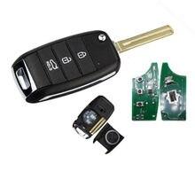 Wilongda 3 botão remoto flid dobrável chave remota com 4d60 chip 433mhz para kia k3 chave