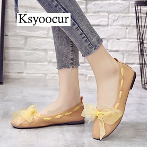 Image 3 - ブランド Ksyoocur 2020 新レディースフラットシューズカジュアル女性の靴の快適なフラットシューズ春/夏の女性の靴 x06