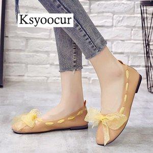 Image 3 - ยี่ห้อ Ksyoocur 2020 ใหม่สุภาพสตรีแบนรองเท้ารองเท้าสบายๆผู้หญิงรองเท้าสบายๆรอบนิ้วเท้ารองเท้าแบนฤดูใบไม้ผลิ/ฤดูร้อนผู้หญิงรองเท้า x06